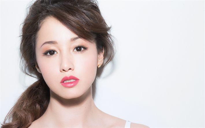 Hämta bilder Erika Samma Torg, Porträtt, Japansk skådespelerska, vacker Japansk kvinna, make-up