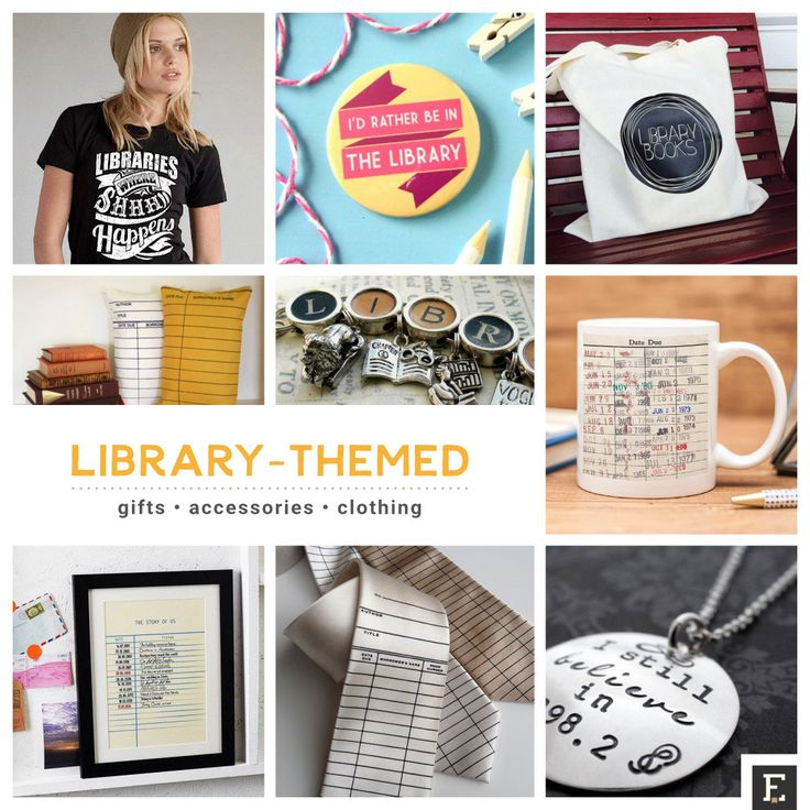 Here are the library gifts ideas, if you want to thank your librarian or share the love for libraries.