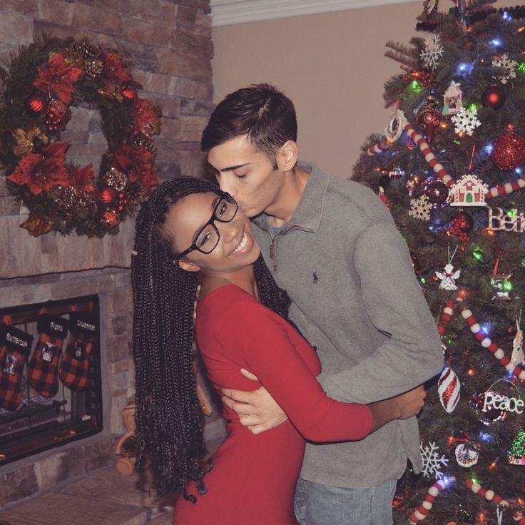 Young couple on Christmas #love #young #couple #christmas #card