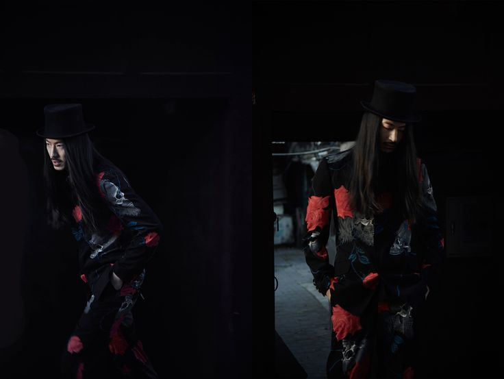 Hat: Reinhard Plank Top: Yohji Yamamoto Homme AW14 Bottom: Yohji Yamamoto Homme AW14 (All outfits from ANCHORET) Model: Wayne Lau Chi Wai Photographer: Jeff Yiu Make-up & Hair: Lu Yan Art Director: Kayuet Nicky Chau