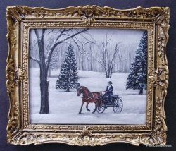 Carriage in the Snow' by Cindy Lotter - $135.00 : Petit Connoisseurs, South African Artisan Dollhouse Miniatures