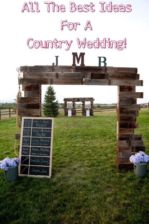 All the best ideas for a country wedding in one location!