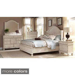 Greyson Living Laguna Antique White Panel Bed 6-piece Bedroom Set