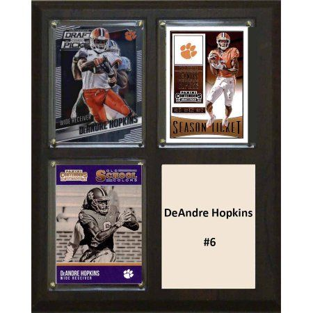 C & I Collectables Ncaa 8 inch x 10 inch DeAndre Hopkins Clemson Tigers 3 Card Plaque