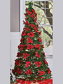 your favorite holiday flowers along with 200 mini lights adorn this collapsible pull favorite holidayyour favoritepull uppoinsettiashop bychristmas trees - Pull Up Christmas Tree