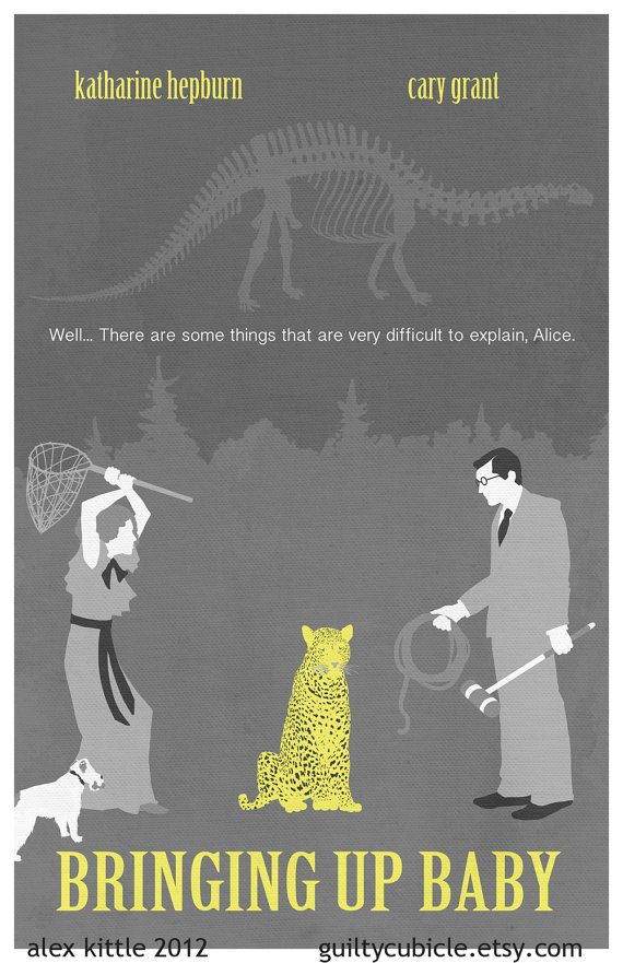 """""""Bringing up Baby"""" modern poster by guiltycubicle on etsy, 11'x17' for $15.00. There are a couple things I would have done differently had I designed it myself, but the part that catches your eye right away is so charming!"""