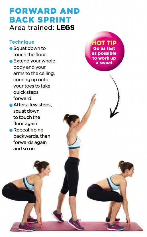 Forward and back sprint