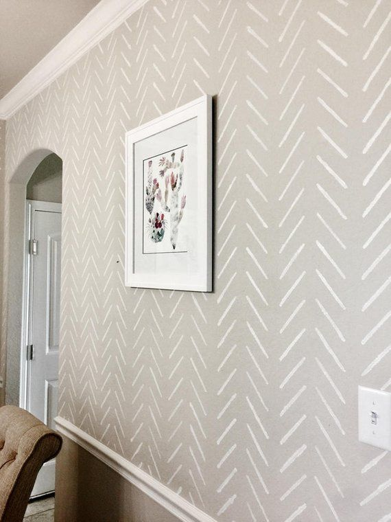Herringbone Simple Large Wall Stencil Herringbone