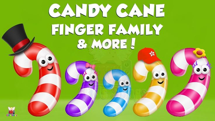 Candy Cane Finger Family Collection | Top 10 Finger Family Collection | ...