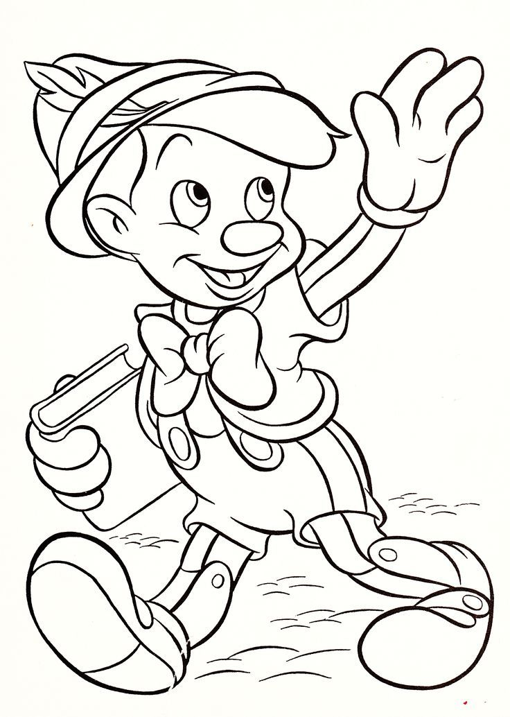 Disney Characters Coloring Pages Pinocchio ColoringStar