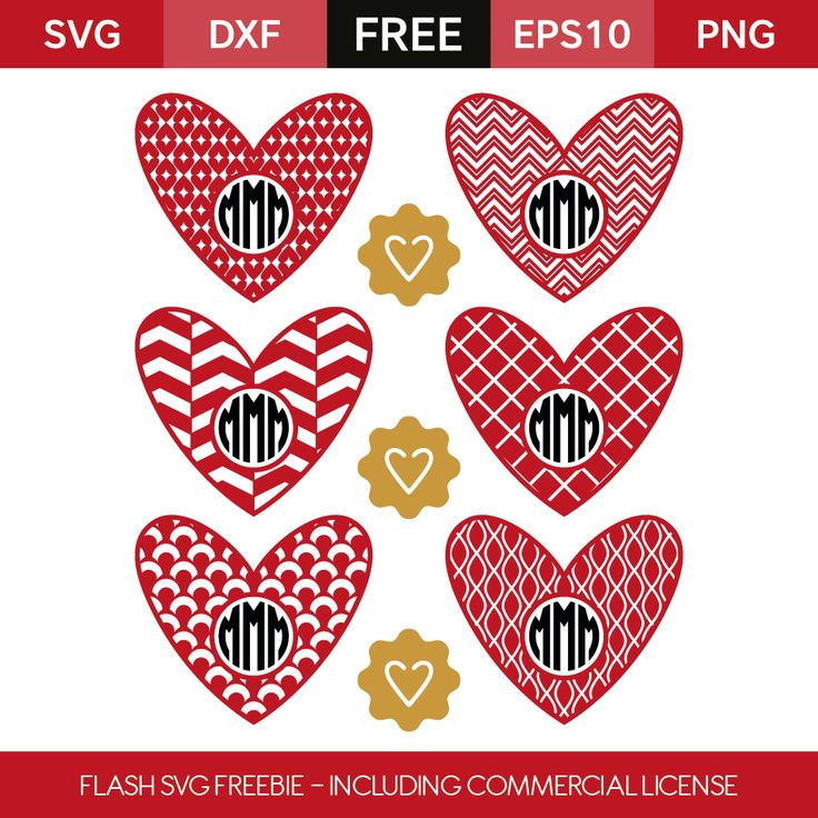 (FLASH FREEBIE) Heart Monograms - FREE right now (Jan 7) but will be gone soon. Must either share or like in order to unlock the files.
