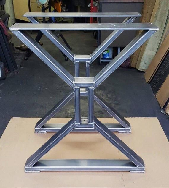 Set Of Two X Metal Table Legs Iron Table Legs Steel