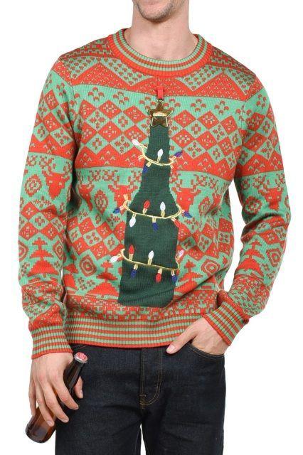 Tipsy Elves Bottle Opener Ugly Christmas Sweater