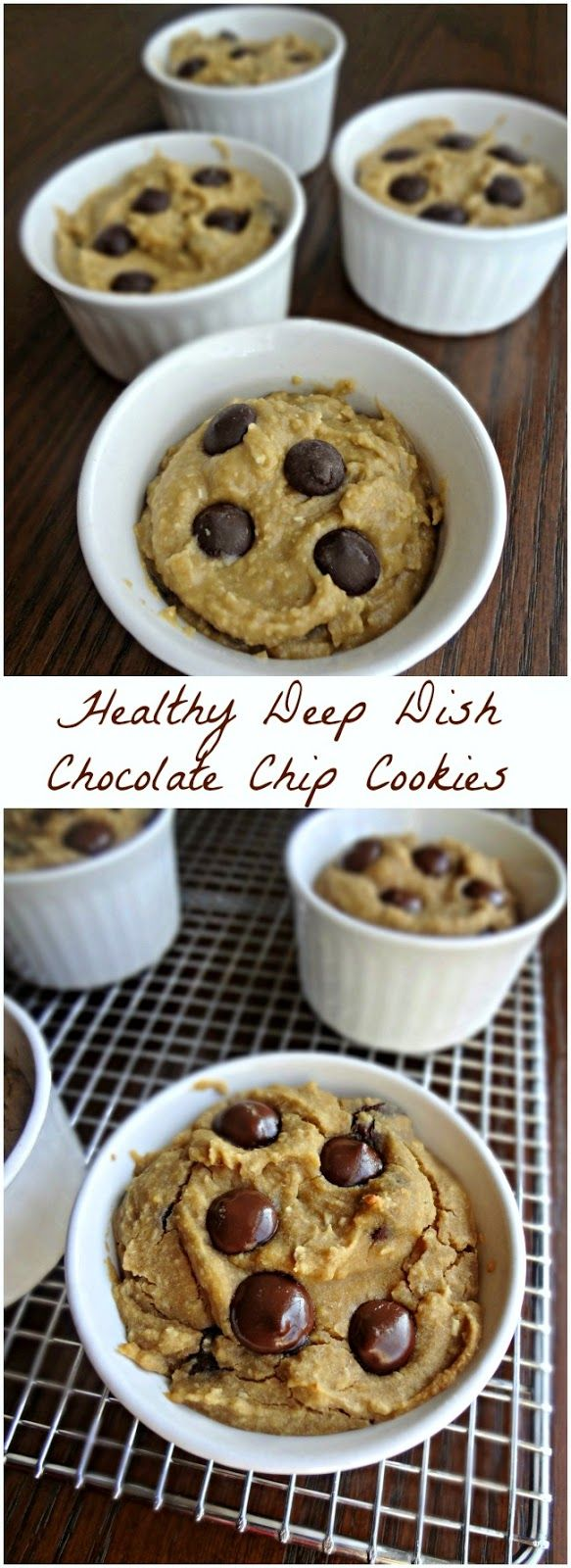 The Cooking Actress: Healthy Deep Dish Chocolate Chip Cookies {Gluten-free, Vegan, Low fat, Dairy free} Bake up this recipe for delicious, gooey, cookies--you'll never guess the secret ingredient!