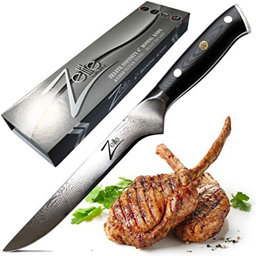 From 74.97 Zelite Infinity Boning Knife 6 Inch - Alpha-royal Series - Best Quality Japanese Aus10 Super Steel 67 Layer High Carbon Stainless Steel -razor Sharp Superb Edge Retention Stain & Corrosion Resistant