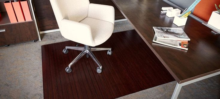 Bamboo Office Chair Mat - Executive Home Office Furniture Check more at http://www.drjamesghoodblog.com/bamboo-office-chair-mat/