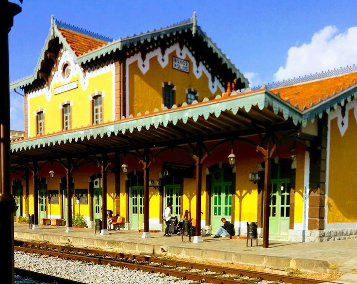 Volos' railway station ~E. De Chirico
