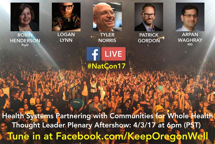 For those of you attending the @NationalCouncil's #NatCon17 this coming week, join us for Monday's Thought Leader Plenary: Health Systems Partnering with Communities for Whole Health in the afternoon!  The in-person panel discussion is at 4:15 at the Washington State Convention Center, followed by a Facebook Live Q&A at 6pm on the Keep Oregon Well page. Tune in at www.Facebook.com/KeepOregonWell  #MentalHealthMatters #FightStigma #HealthyCommunities #Seattle #KeepOregonWell