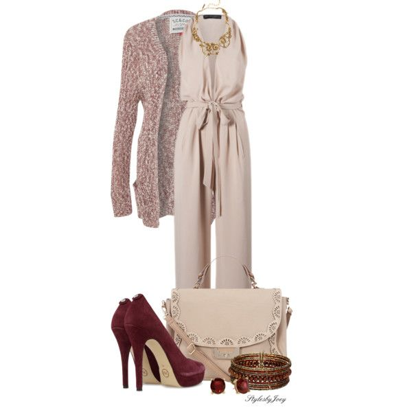 """""""Nude Jumpsuit"""" by stylesbyjoey on Polyvore"""