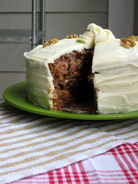 "Recipe for ""Barefoot Contessa's Carrot Pineapple Cake"" from  Willow Bird Baking"