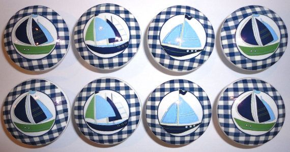 Nautical Zachary sailboat Handmade Dresser Drawer by whimzicality, $21.99