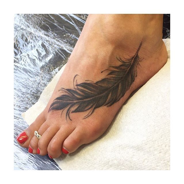 feather foot tattoo wwwimgkidcom the image kid has it