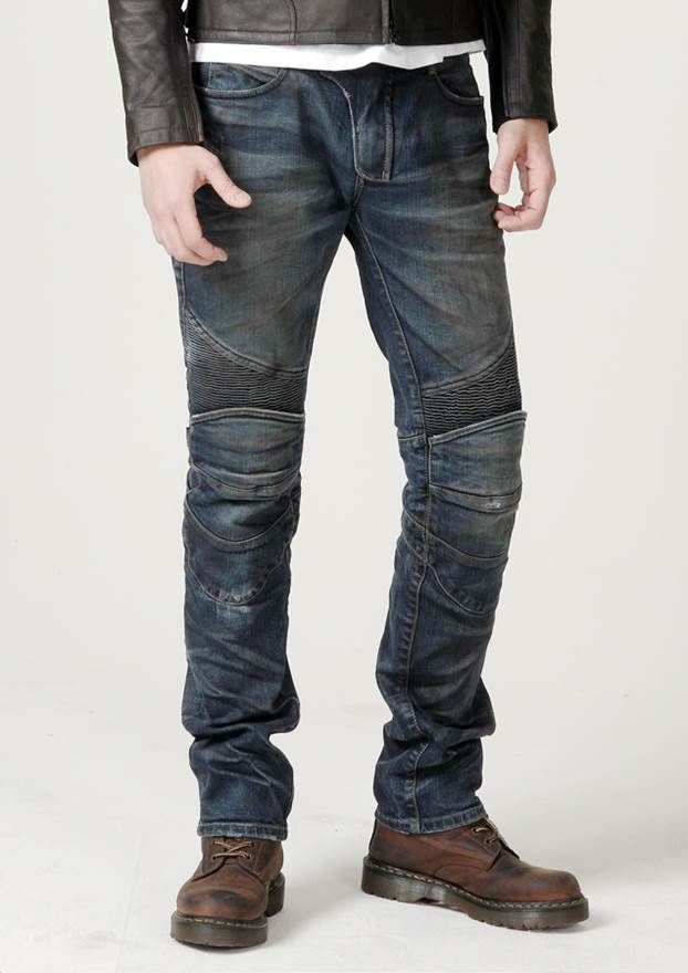 uglyBROS Featherbed Dirty - mens's motorcycle jeans with protectors.