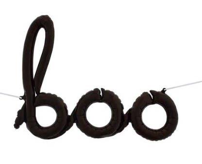 Boo Halloween Balloon Banner - Black Halloween Decorations, Halloween Party Decor, Halloween Decorations, By Paper Rabbit on Etsy by PaperRabbit87 on Etsy