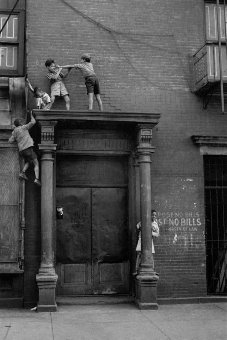 New York, ca. 1940.  By Helen Levitt