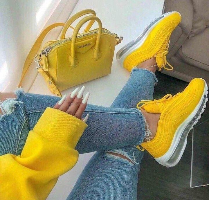 nike amarillas mujer zapatillas