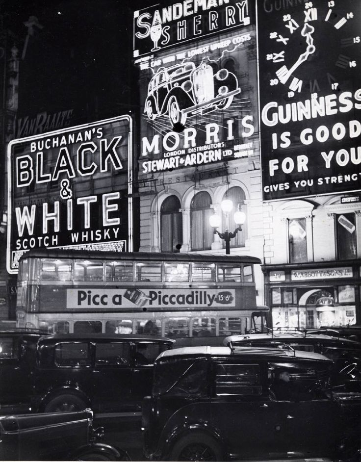 """Bill Brandt's 1940 """"Piccadilly Circus before the Blackout"""""""