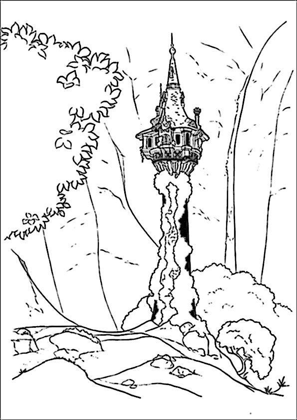 Desenhos Para Colorir Da Rapunzel Paginas Para Colorir Da Disney