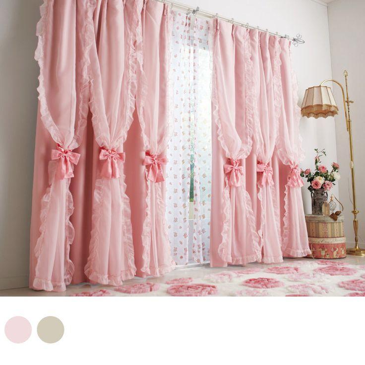3連ボイル付遮光カーテンUB1 かわいい姫系インテリア家具・姫系雑貨の通販|ロマプリ・ロマンティックプリンセス