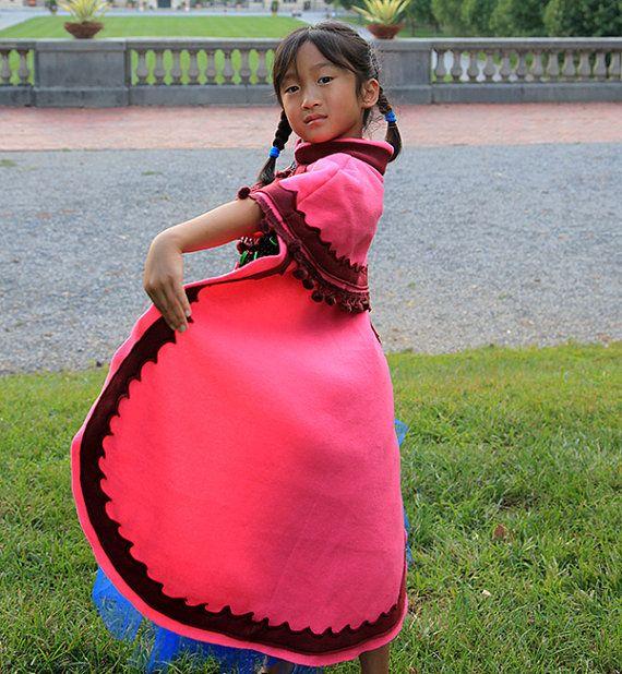 Princesse Anna Cape ; Congelés inspirée Anna Cloak ; Costume congelé