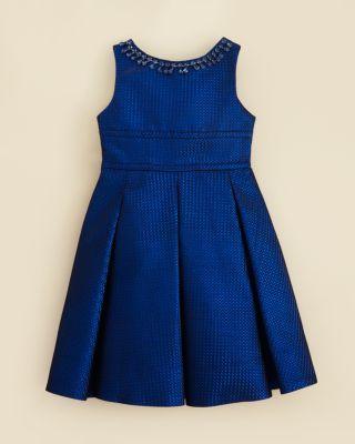 Kleinfeld Pink Girls' Anna Shimmer Dress - Sizes 4-6X | Bloomingdale's