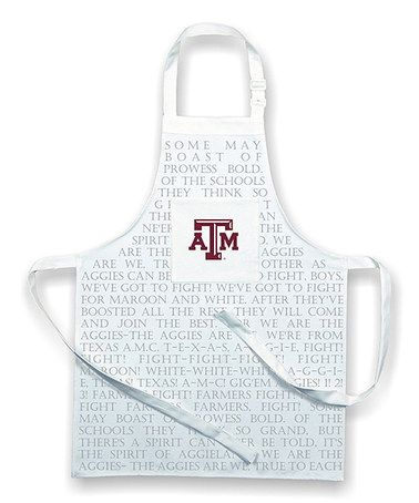 This Texas A&M Aggies Fight Song Apron is perfect! #zulilyfinds