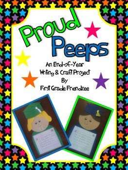 Let your students show how proud they are of their school year accomplishments! This writing and craft activity would make a great bulletin board display. Inspired by finallyinfirst.blogspot.com - Thank you! Follow me at www.firstgradefriendzee.blogspot.com