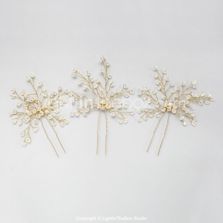 Women's / Flower Girl's Crystal / Alloy Headpiece-Wedding / Special Occasion Hair Pin 2 Pieces