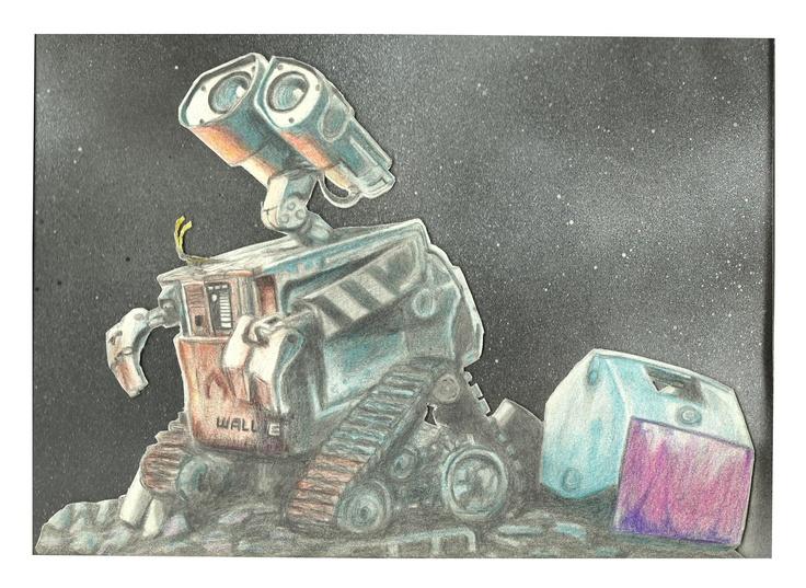 Wall-E - 2012 - drawing - 20 x 30 cm