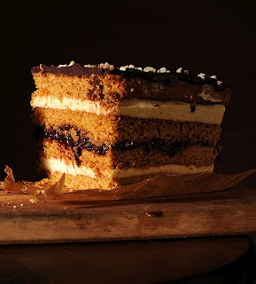 Honey cake with custard - Stefanka ciasto miodowe