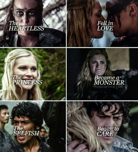 The heartless fell in love, the princess became a monster, the selfish began to care. | The 100 / Lexa / Clarke / Bellamy
