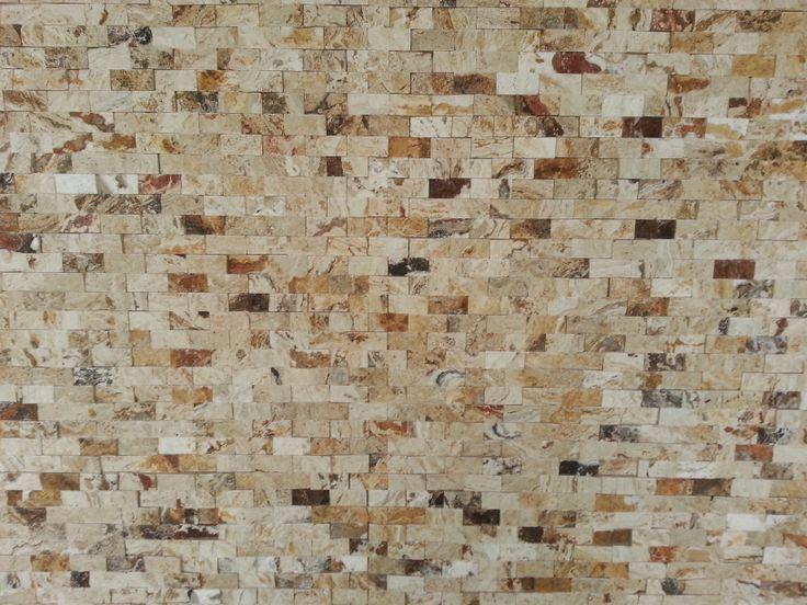 1 Quot X2 Quot Leonardo Split Face Mosaic Travertine Tiles