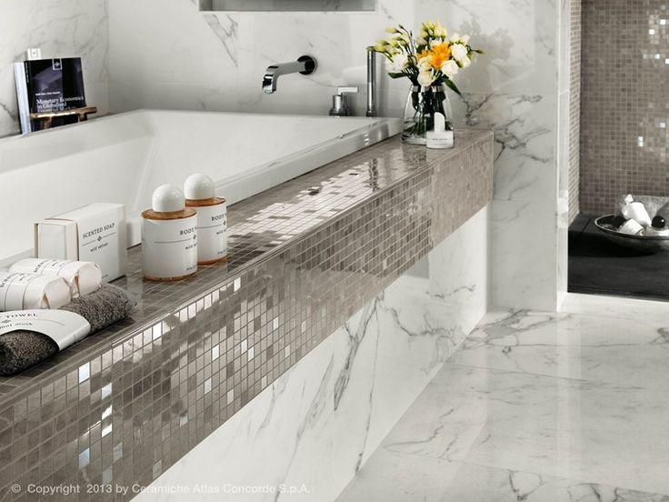 Silver Mosaic, Calacatta Extra