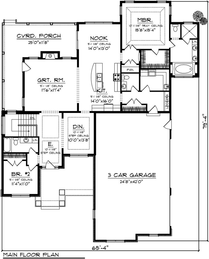 101 best images about home plans on pinterest 3 car for Craftsman house plans with basement