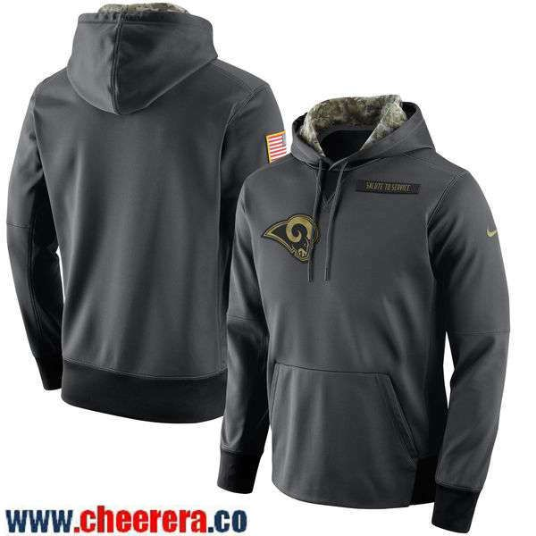 Men's Los Angeles Rams Nike Anthracite 2016 Salute to Service NFL Player Performance Hoodie