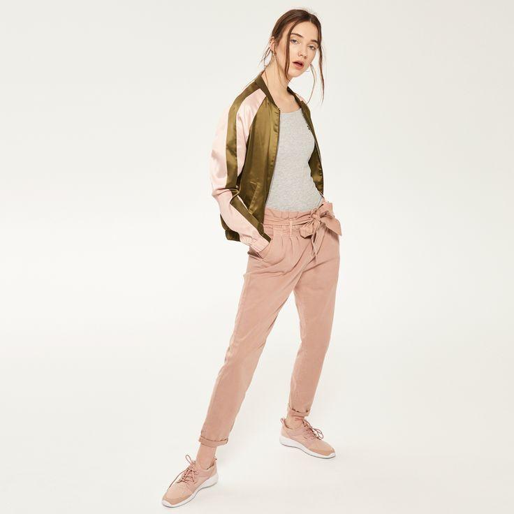 Spodnie z wiązaniem w talii, RESERVED, QZ003-39X