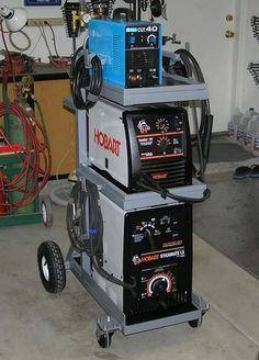 double wide welding cart with storage for O/A cart