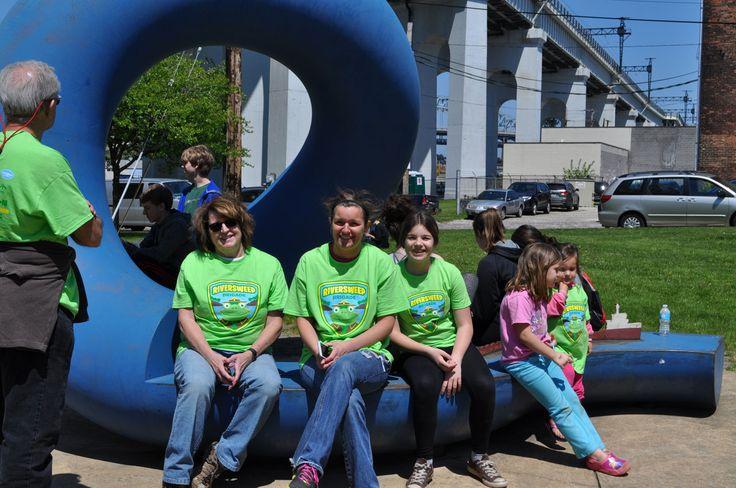 RiverSweep volunteers at Hart Crane Park