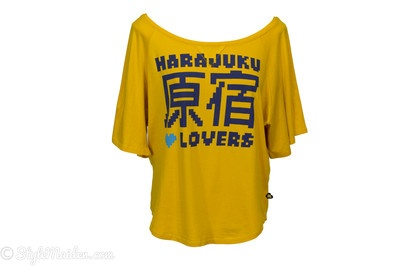 HARAJUKU LOVERS Yellow Short Sleeve Shirt Size Size S at http://stylemaiden.com