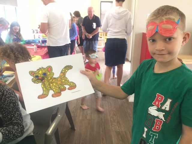 School Holiday Fun! Kids love the crafts sessions